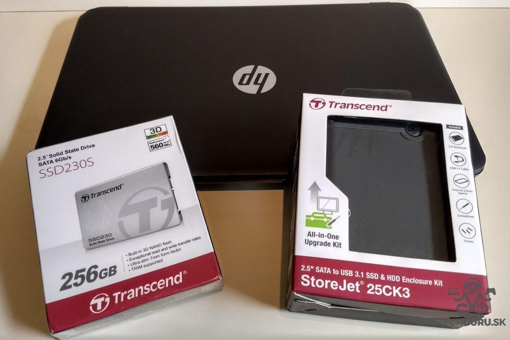 Výmena HDD za SSD Transcend SSD+StoreJet
