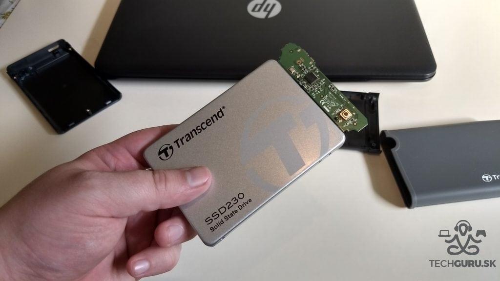 Výmena HDD za SSD Transcend SSD230
