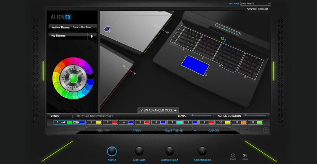 Alienware AlienFX software