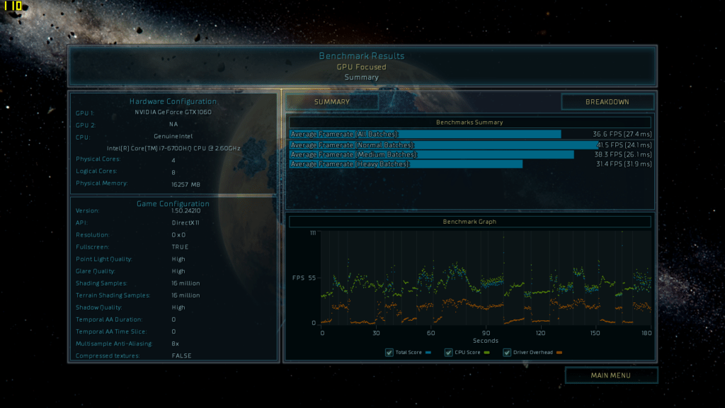 Ashes of the singularity Alienware 17 R4 benchmark DX11 FHD