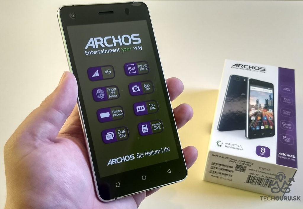 Archos 50f Helium Lite unboxing