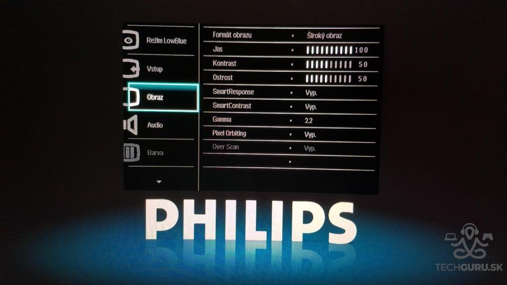 Philips 278E8QJAB/00 menu