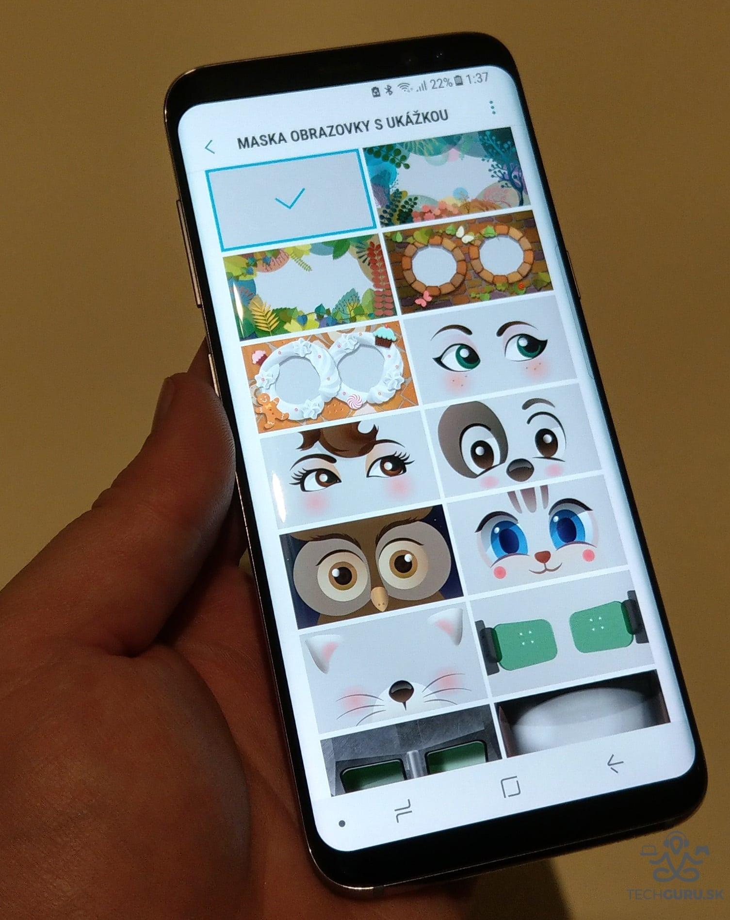 Samsung Galaxy S8 masky odomknutia