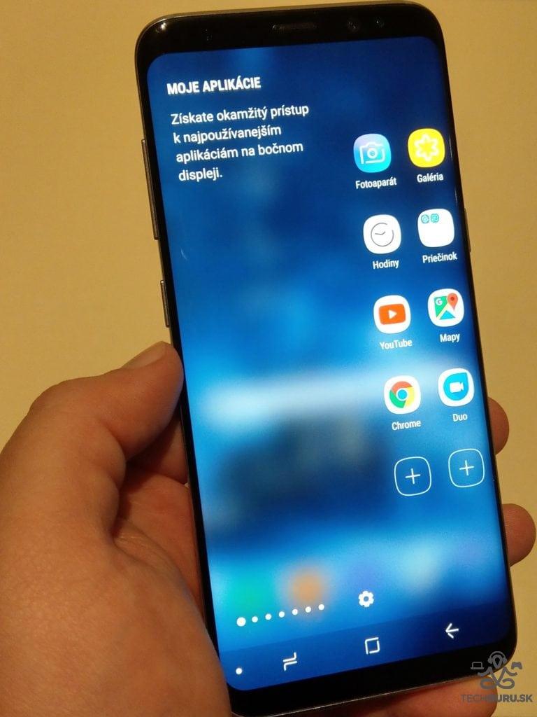 Samsung Galaxy S8 lišta s rýchlym prístupom