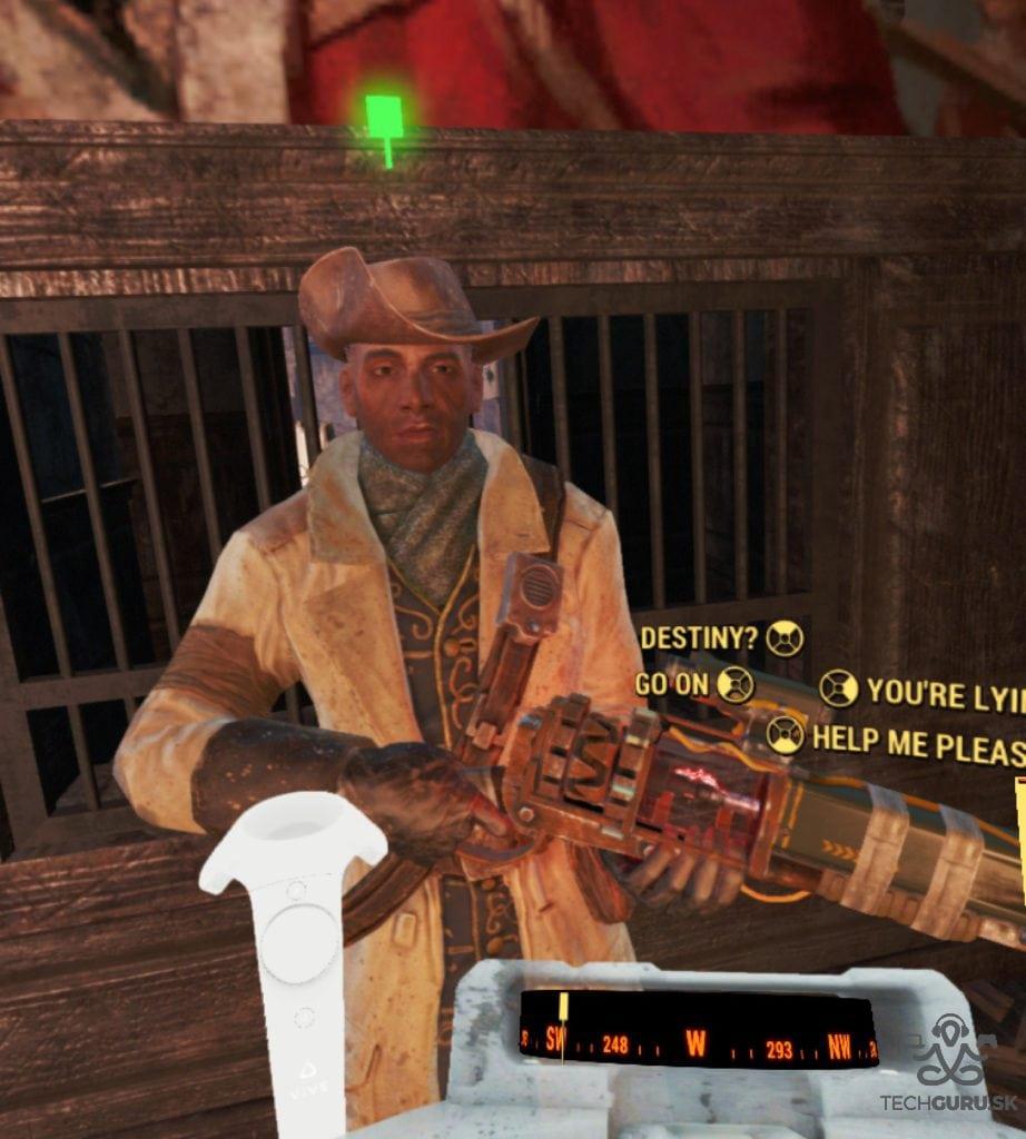 Fallout 4 VR recenzia Preston Garvey