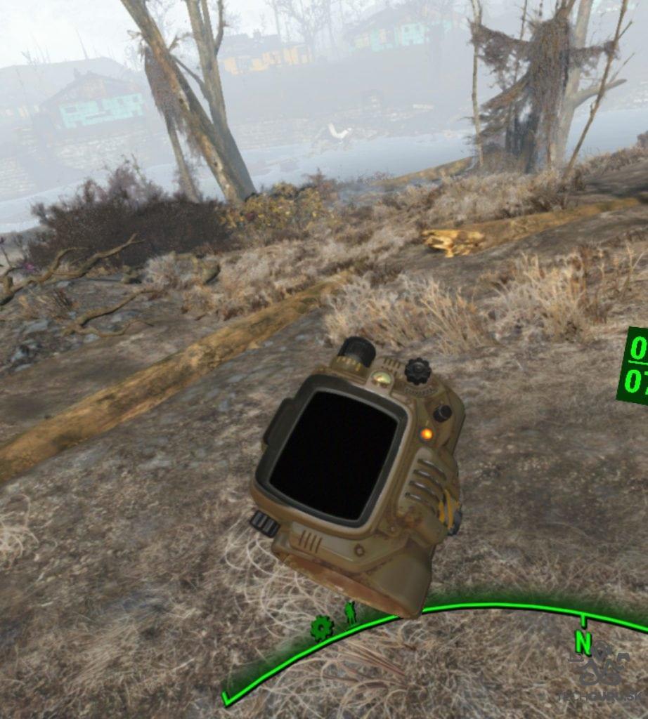 Fallout 4 VR recenzia Pip-Boy