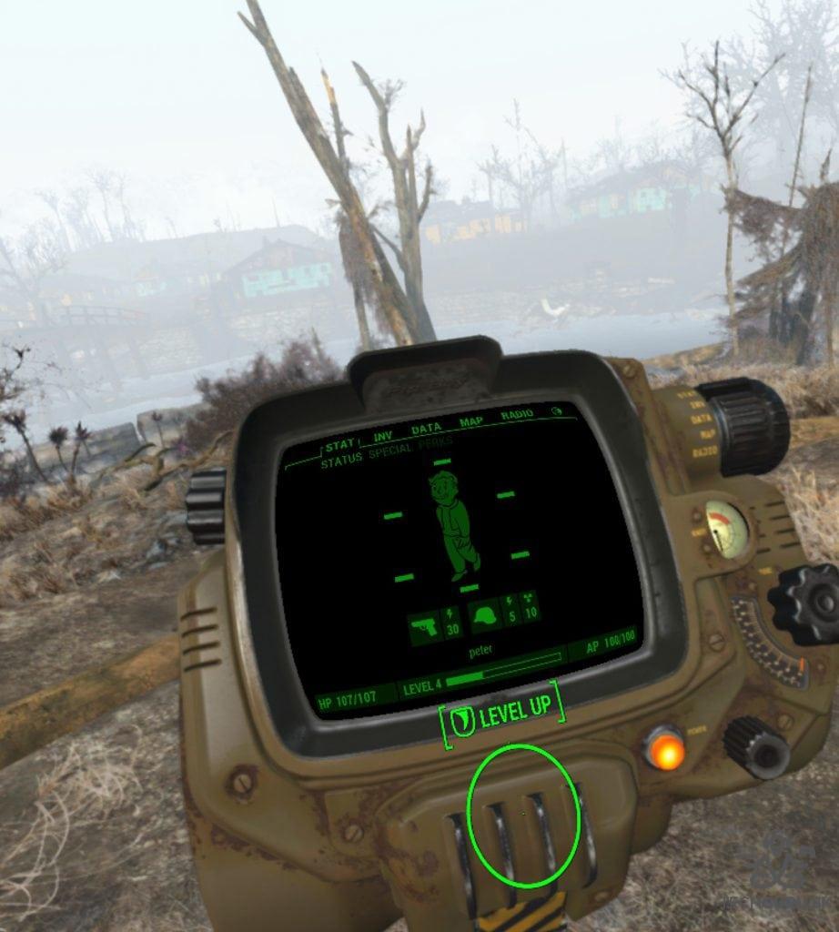 Fallout 4 VR recenzia Pip-Boy 2