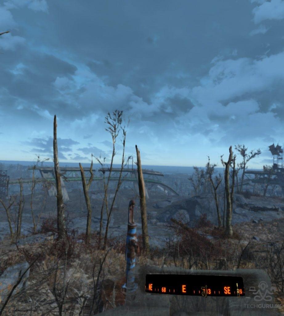 Fallout 4 VR recenzia pohľad do diaľky