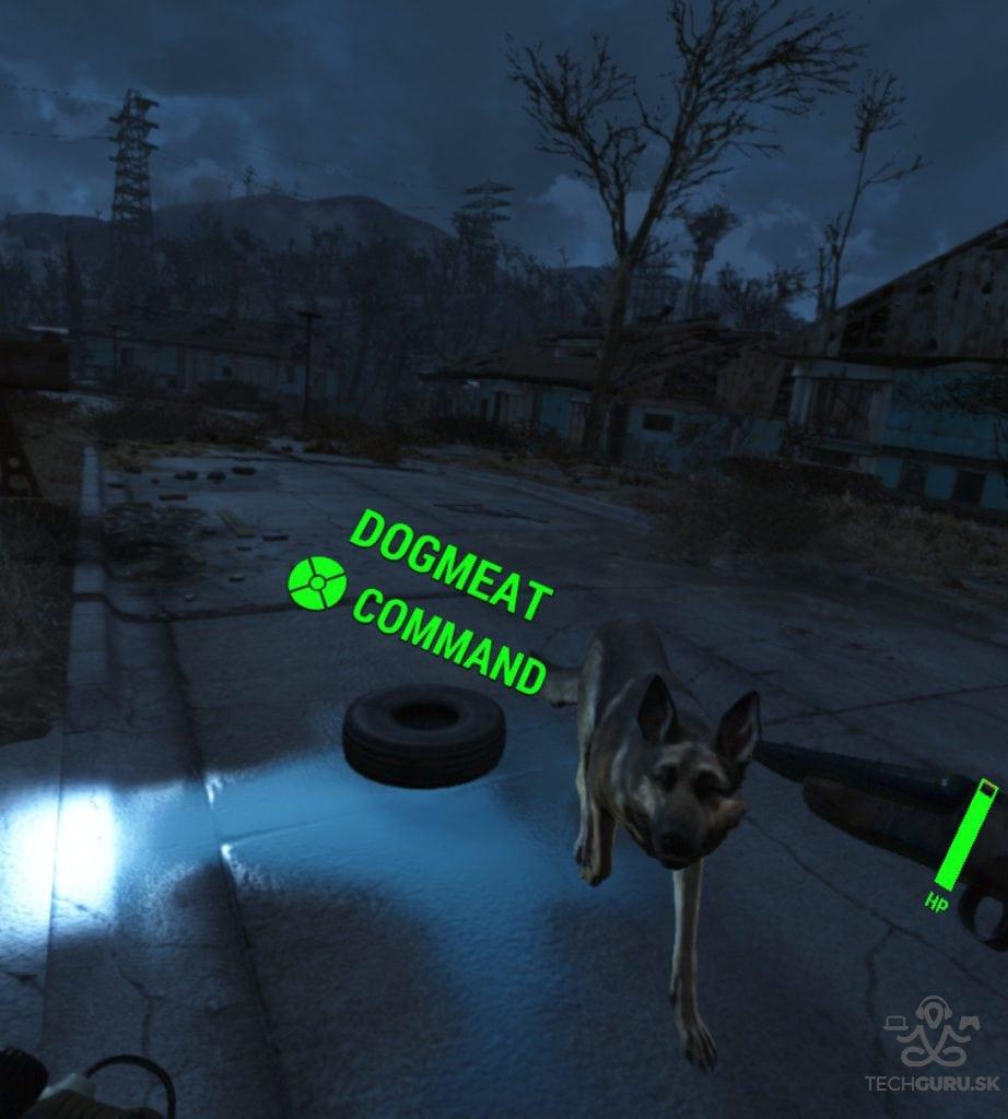 Fallout 4 VR recenzia Dogmeat