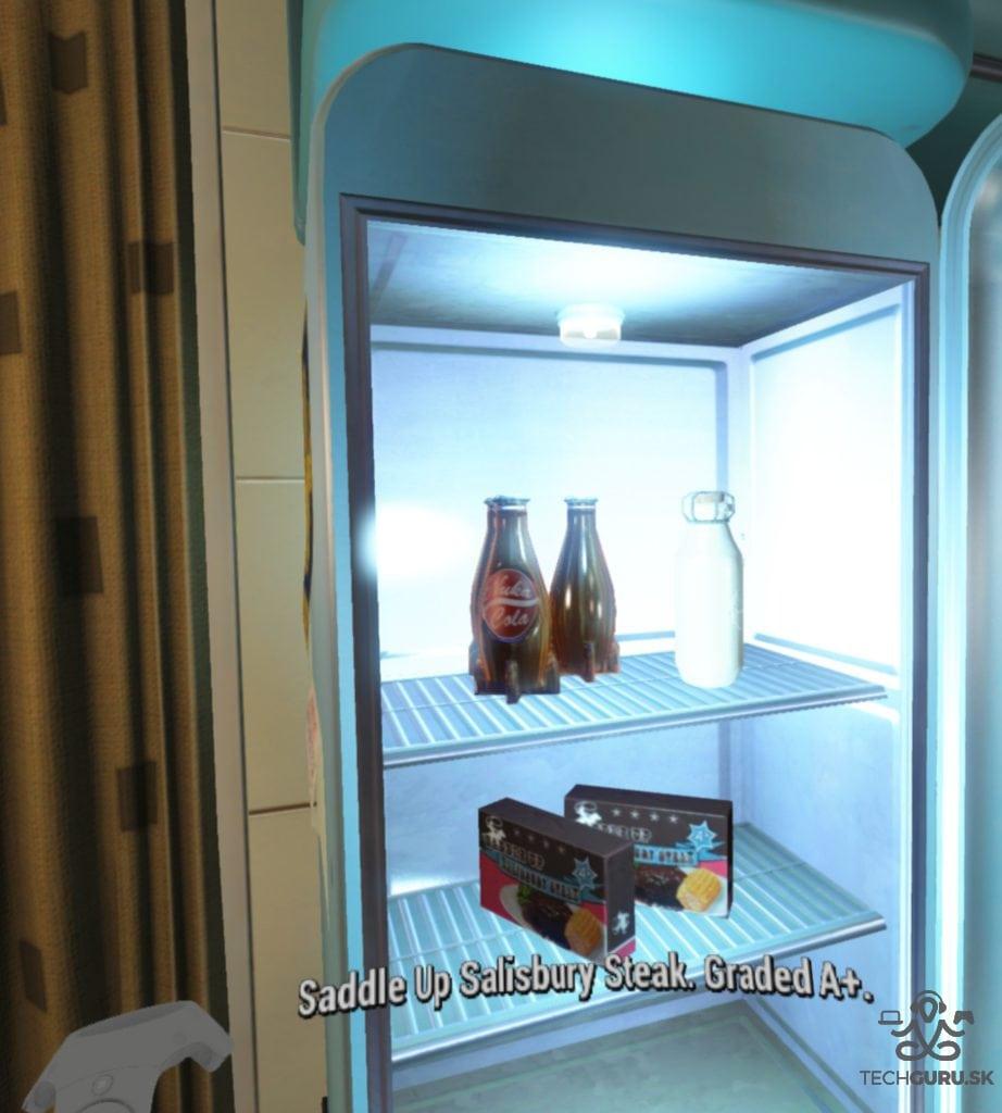 Fallout 4 VR recenzia chladnička