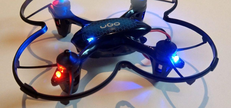 Dron UGO Fen vrtuľky v pohybe