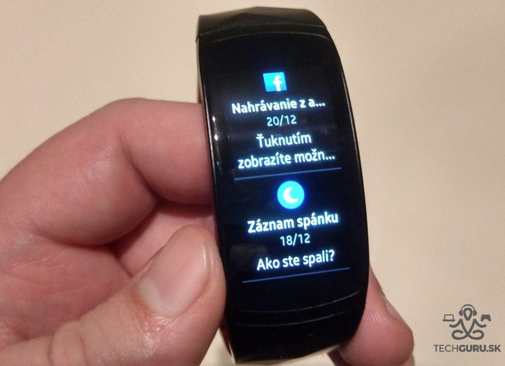Samsung Gear Fit 2 Pro notifikácie