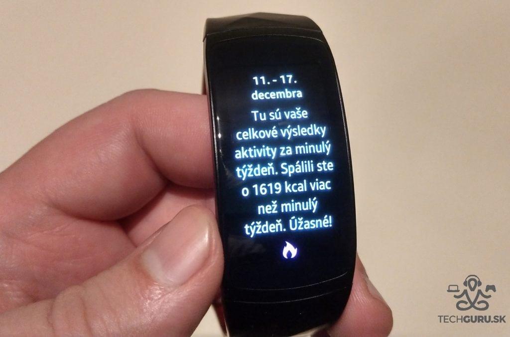Samsung Gear Fit 2 Pro kalórie