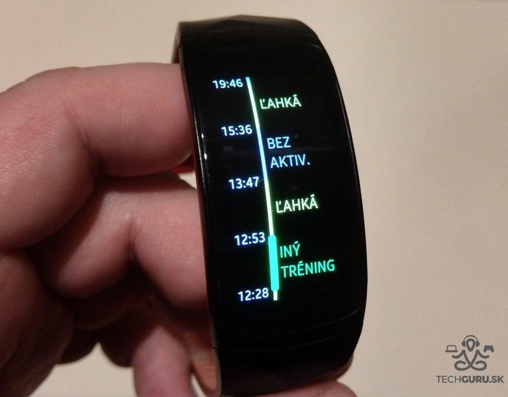 Samsung Gear Fit 2 Pro denná aktivita