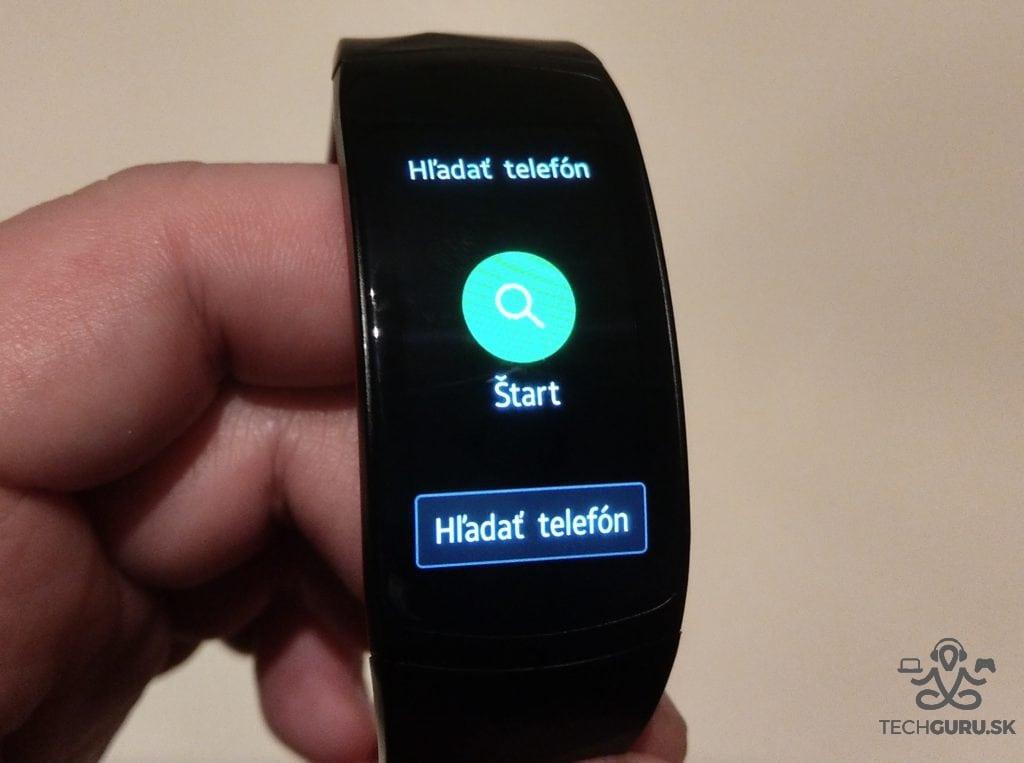 Samsung Gear Fit 2 Pro hľadanie telefónu