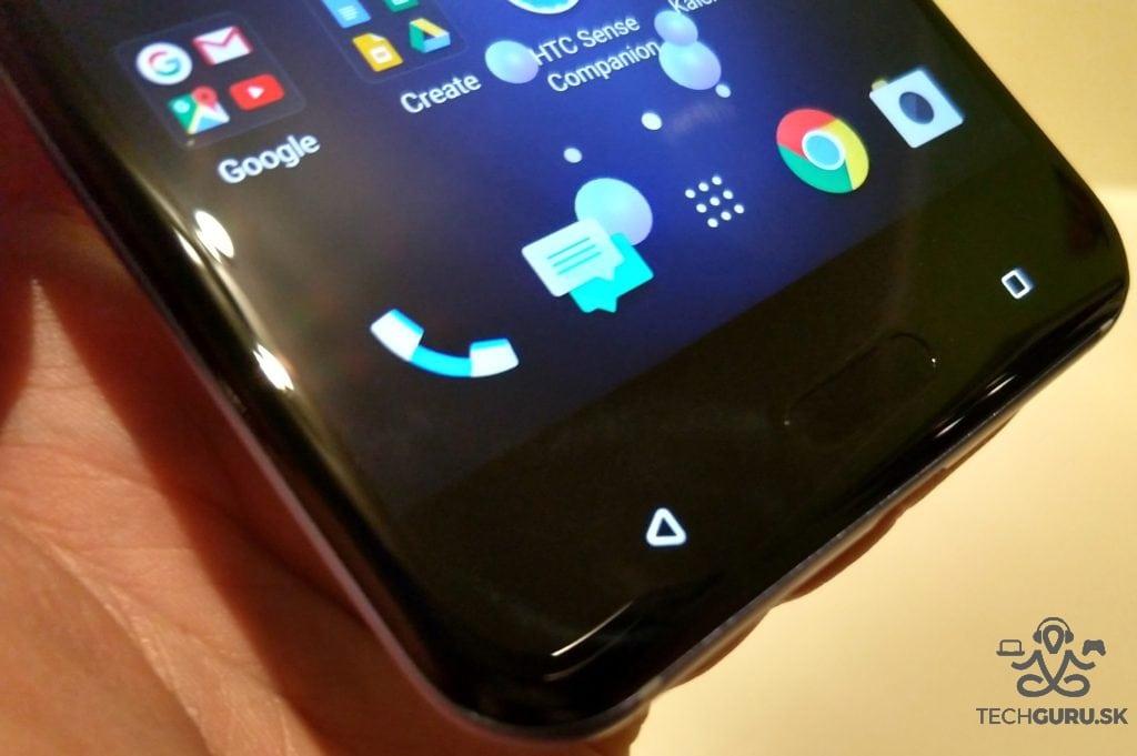 HTC U11 snímač a tlačidlá
