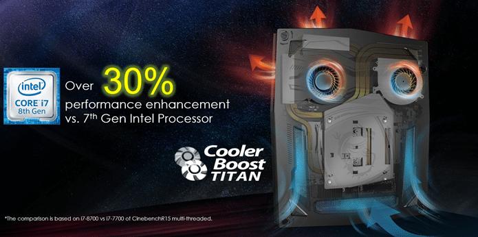 MSI VORTEX G25 chladenie Cooler Boost Titan