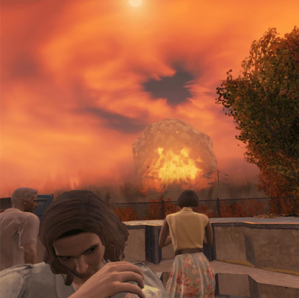 Fallout 4 VR recenzia nukleárny hríbik