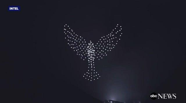 Digitálny ohňostroj - holubica
