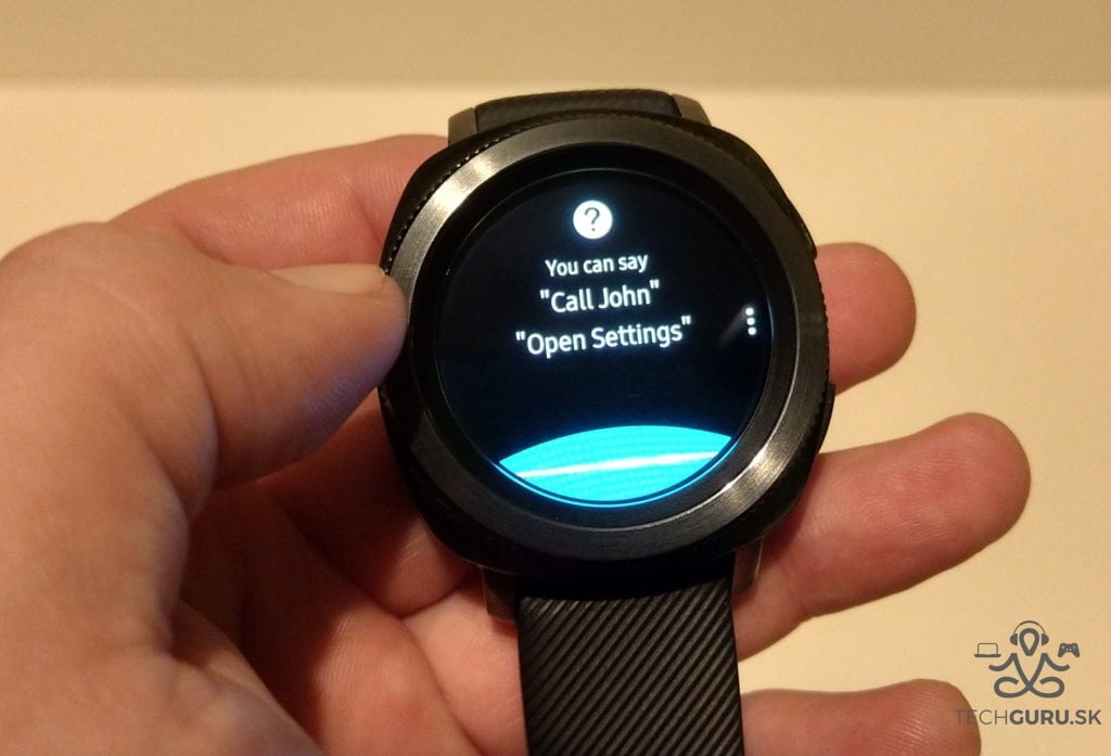 Samsung Gear Sport hlasové vytáčanie