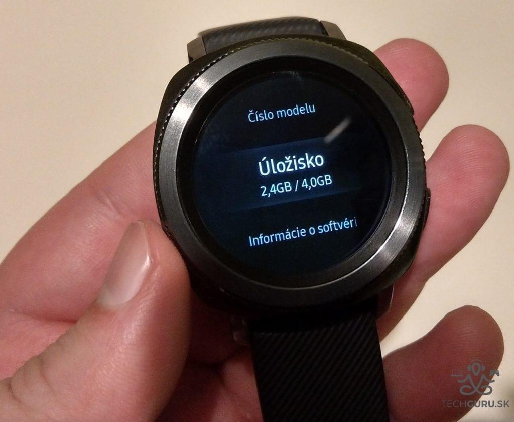Samsung Gear Sport úložisko