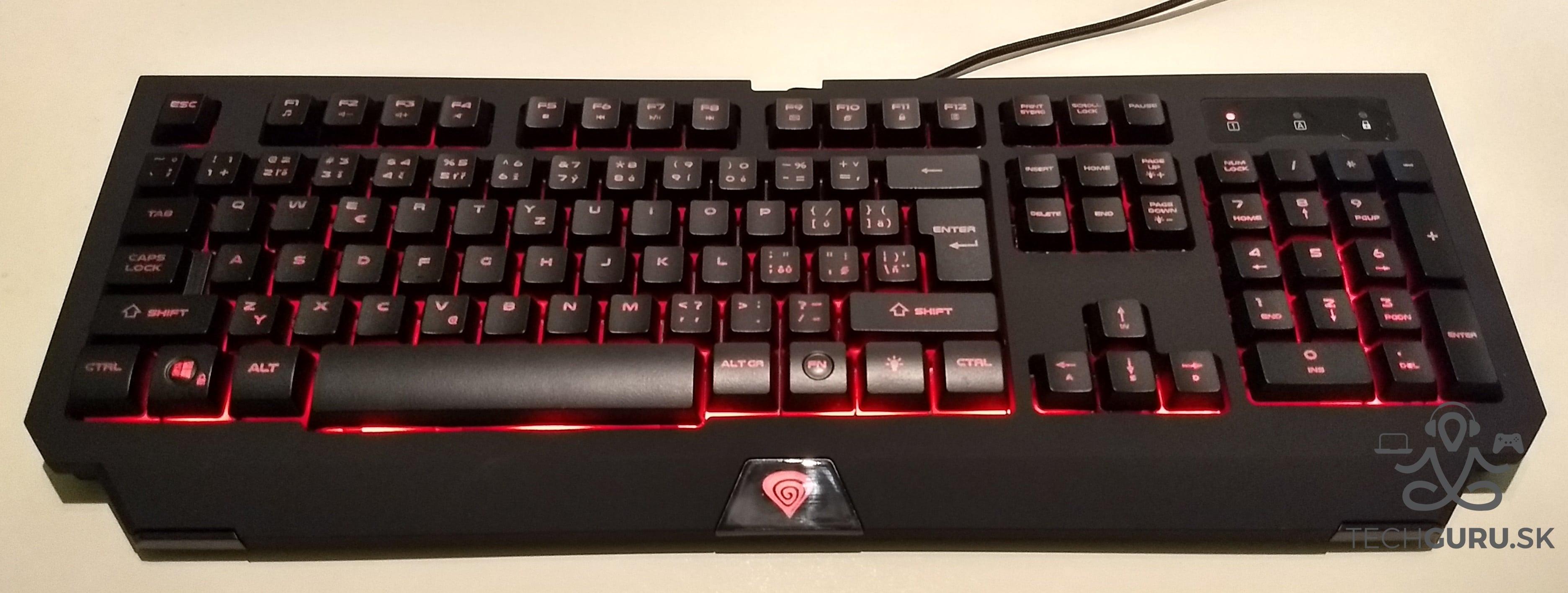 Genesis Cobalt 300 klávesnica podsvietenie 02