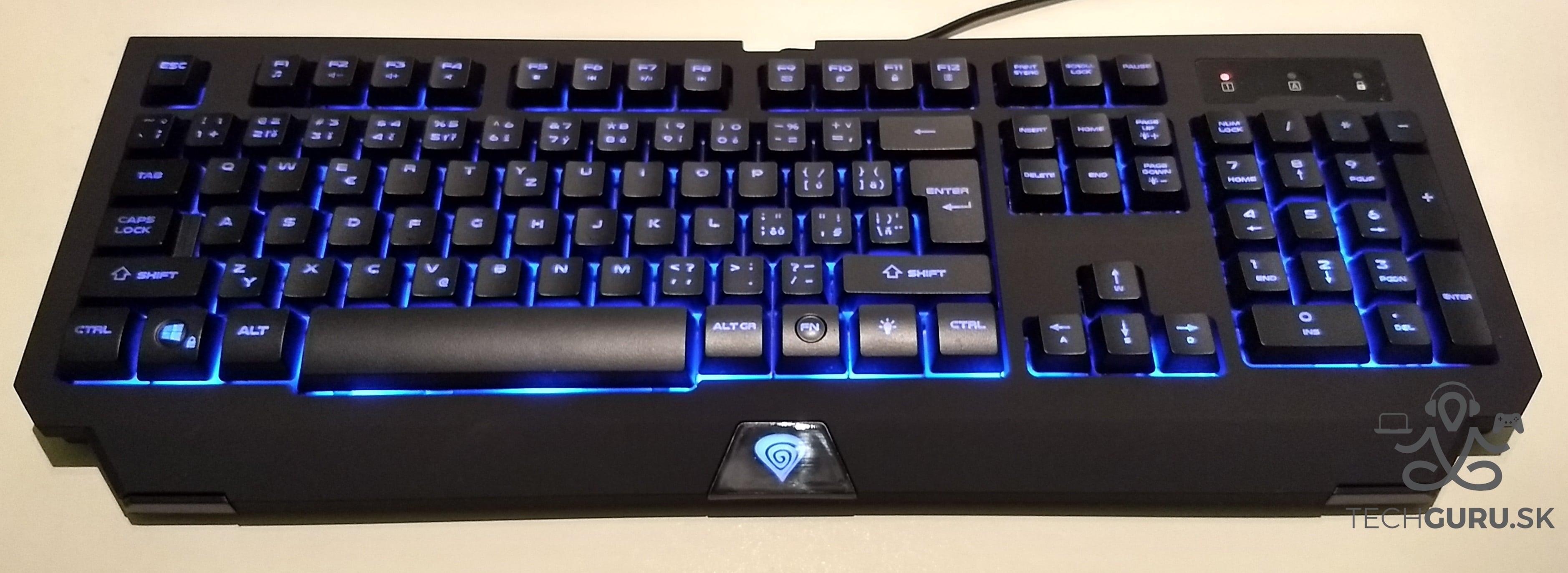 Genesis Cobalt 300 klávesnica podsvietenie 03