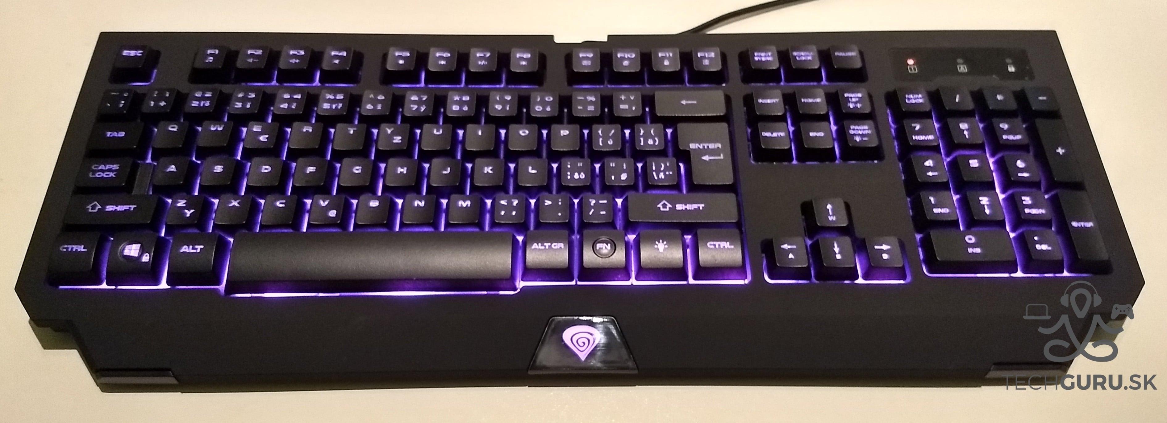 Genesis Cobalt 300 klávesnica podsvietenie 01