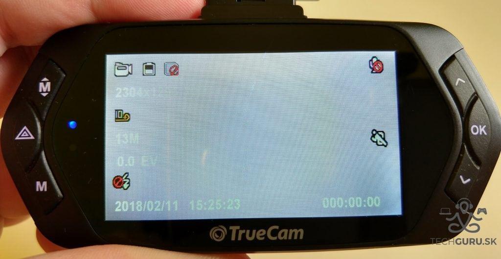 TrueCam A7s displej