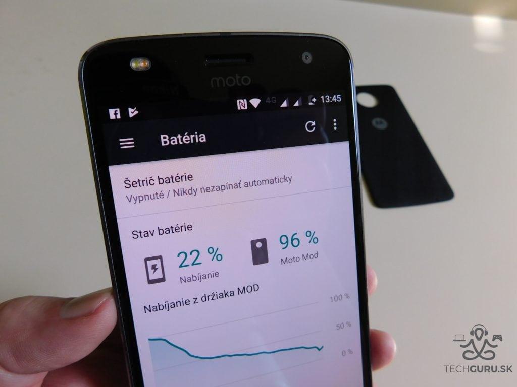 Motorola Moto Z2 Play a motomods - výdrž