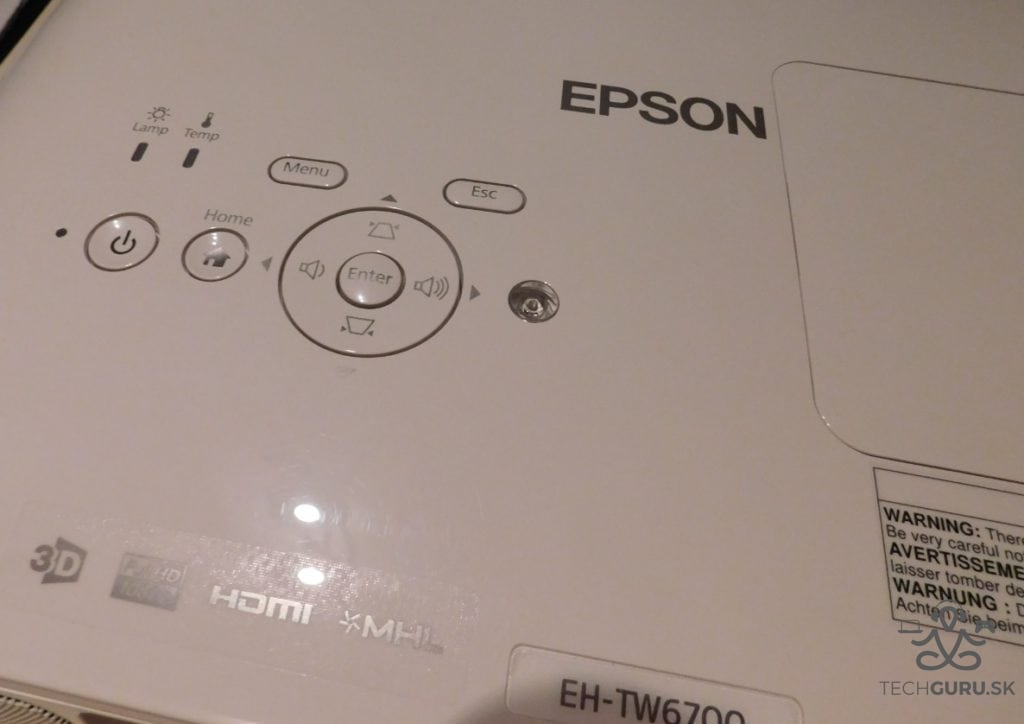Epson EH-TW6700 ovládanie
