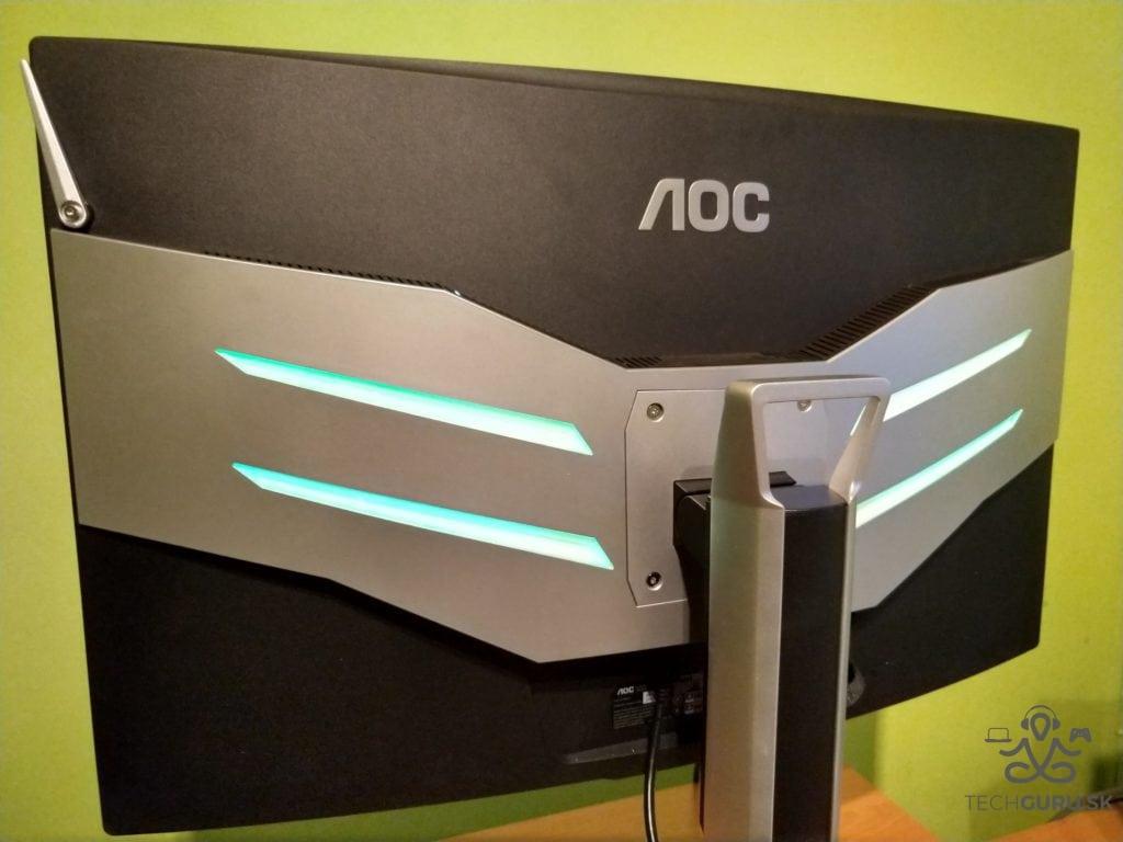 AOC AG322QCX recenzia zadné osvetlenie