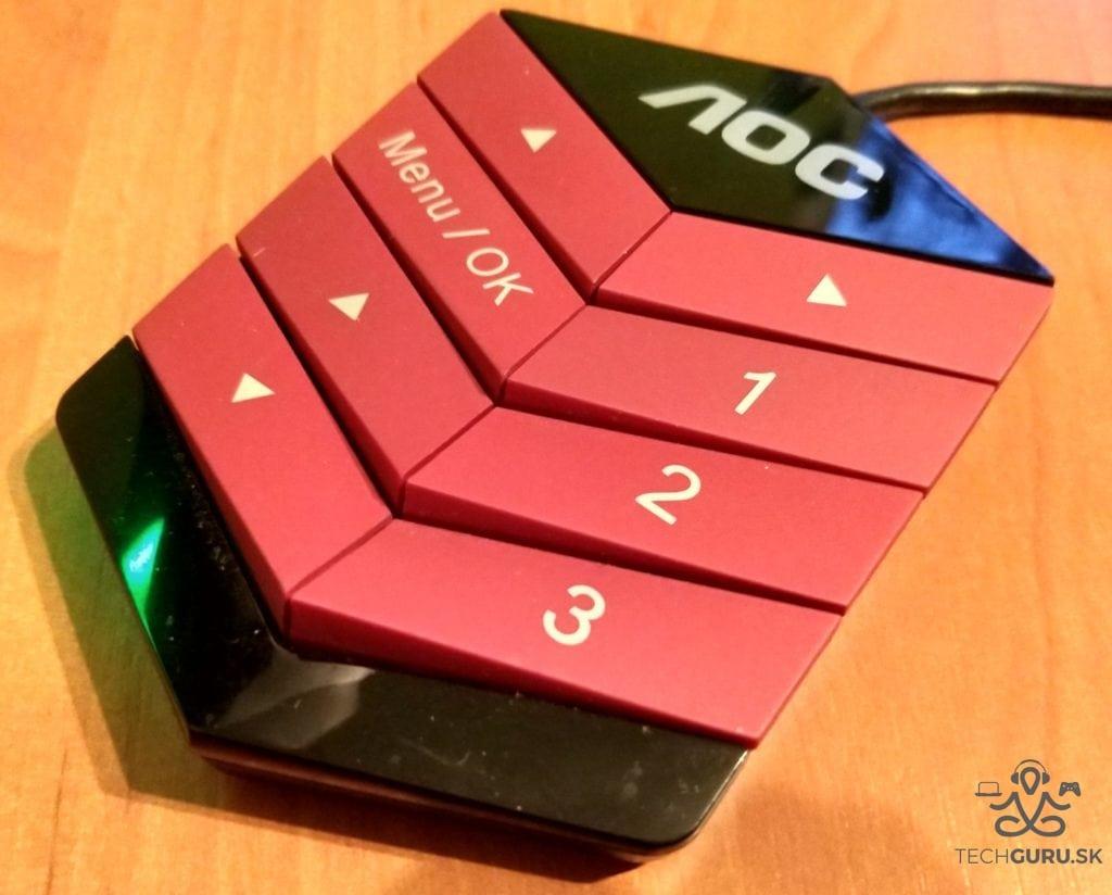 AOC AG322QCX recenzia ovládač