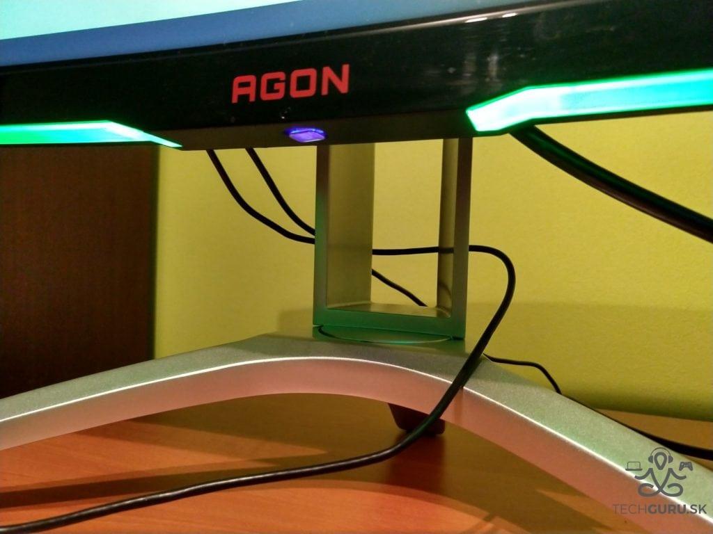 AOC AG322QCX recenzia svetelné pásy