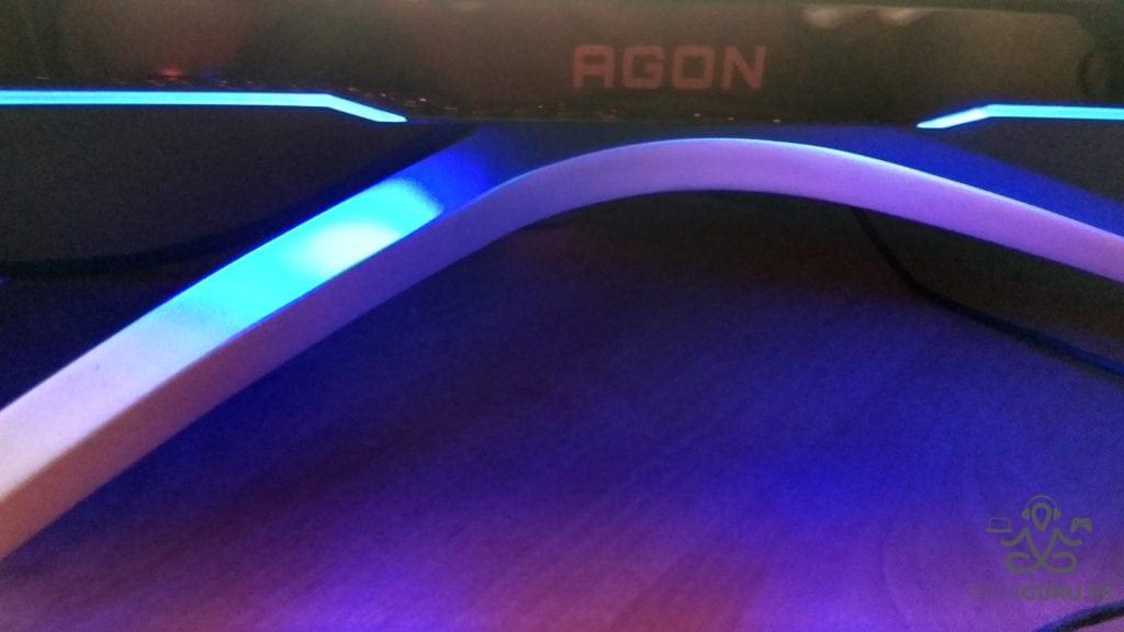 AOC AG322QCX recenzia podsvietenie noc