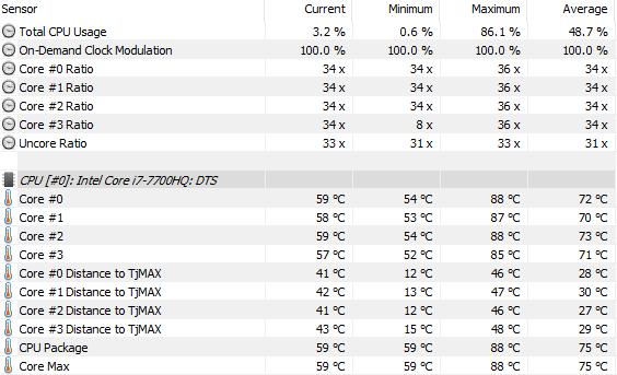 Lenovo Legion Y920 teploty 01