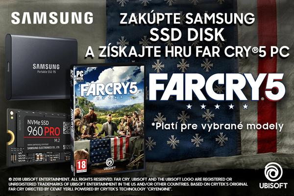 K SSD Samsung dostanete hru Far Cry 5 titulka