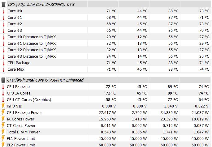 Asus FX503V recenzia CPU teplota