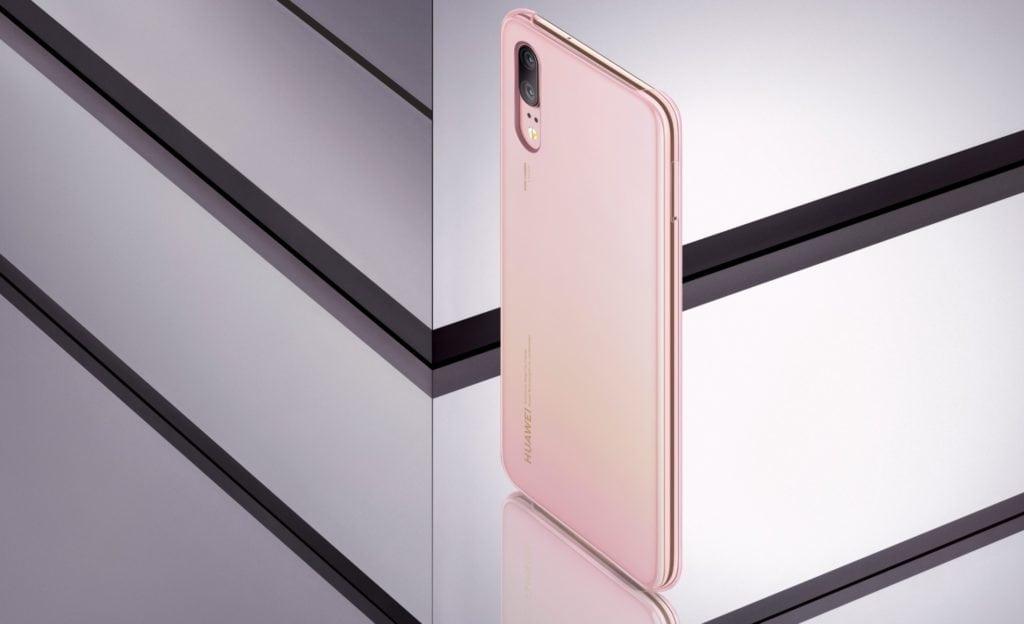 Huawei P20 _goldnpink case