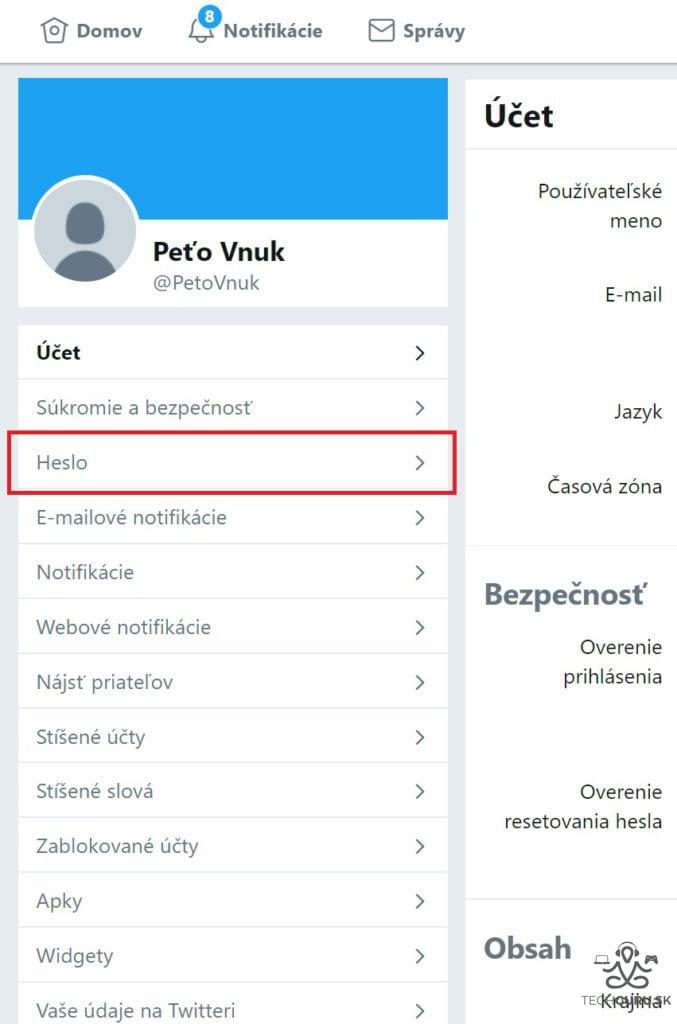 Ako si zmeniť heslo nielen na Twitteri 02