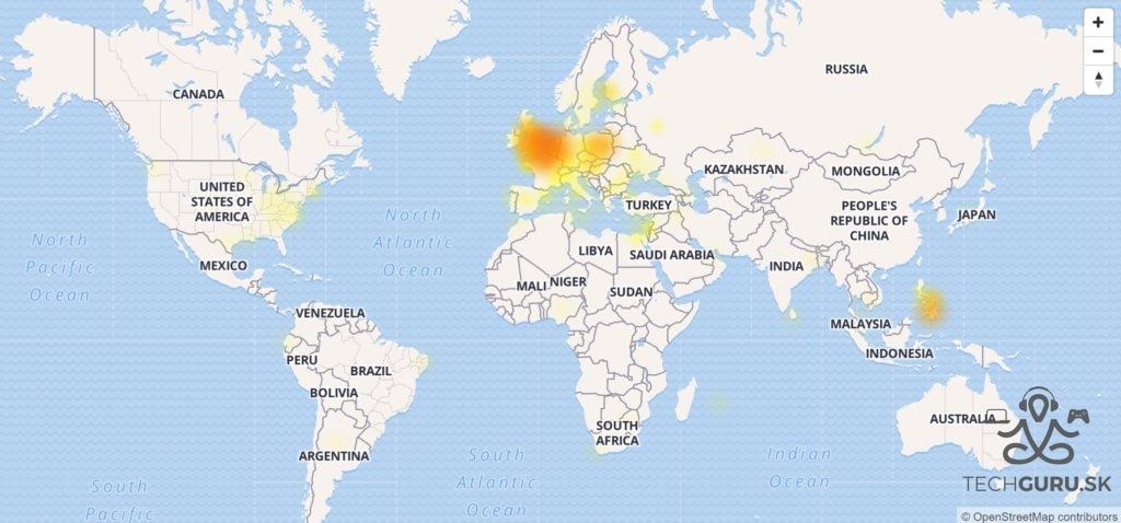 Facebook výpadky
