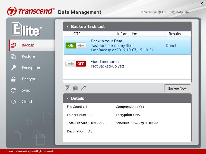 Transcend StoreJet 25M3 2TB recenzia Elite Backup