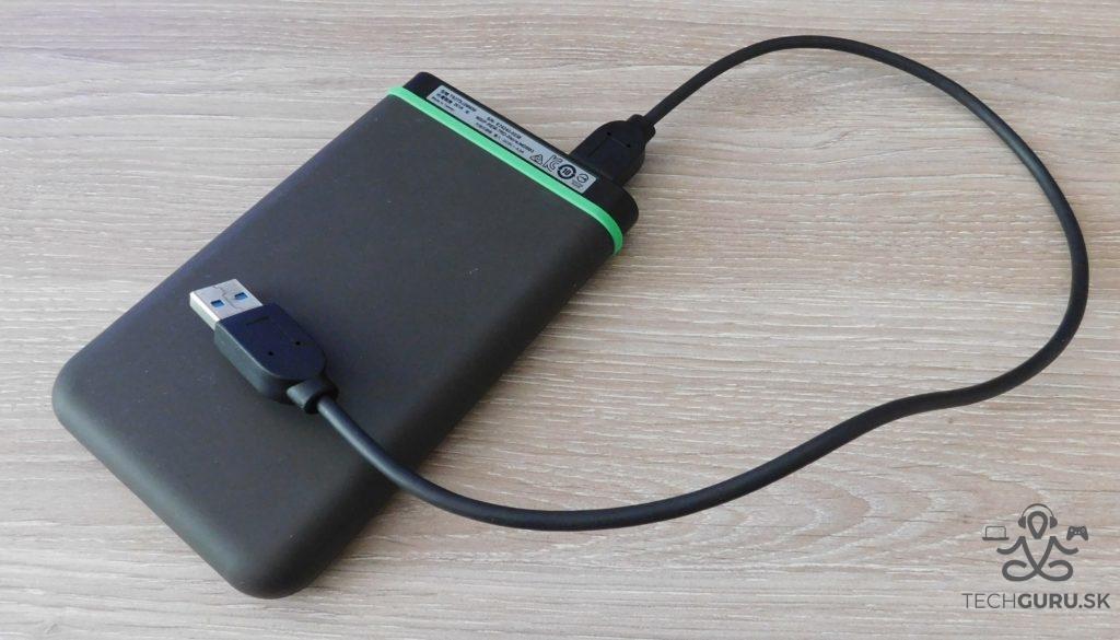 Transcend StoreJet 25M3 2TB recenzia kábel