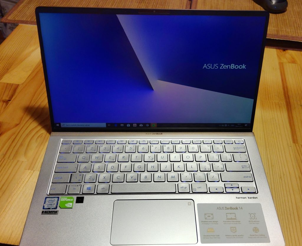 Asus ZenBook 14 recenzia celkový pohľad