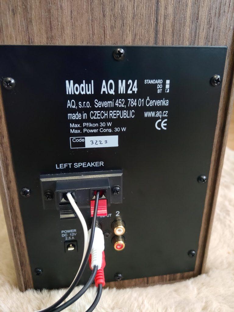 AQ M24 BT recenzia zapojenie