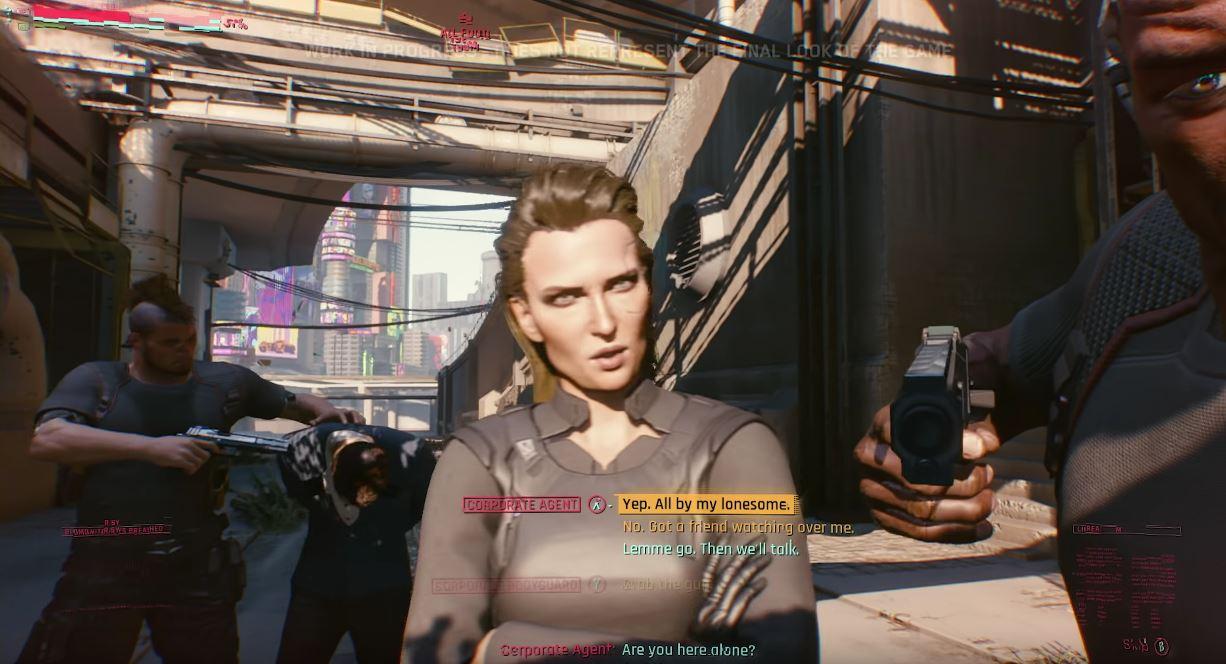 Cyberpunk 2077: Dialógy