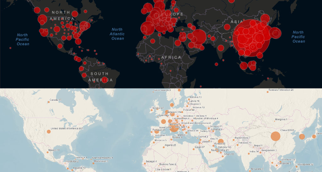 Koronavírus na interaktívnych mapách online