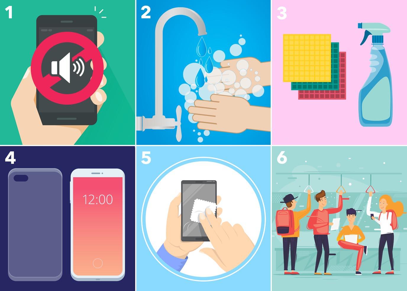 Ako dezinfikovať mobilný telefón