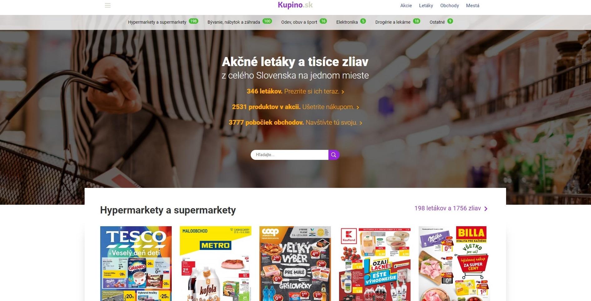 Web Kupino.sk