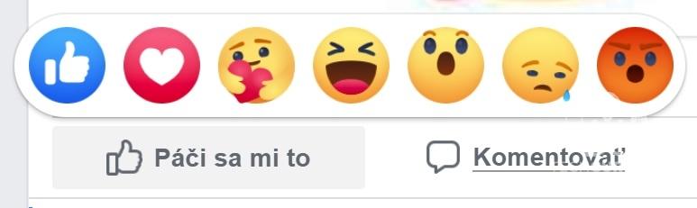 Nová reakcia na Facebooku Cítim s vami Care